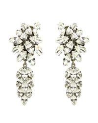Ben-Amun | Metallic Crystal Cluster Drop Earrings | Lyst