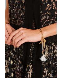 Chloé - Metallic Harlow Gold-tone Feather Bracelet - Lyst