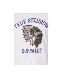 True Religion | White Buffalo Mens Tee for Men | Lyst