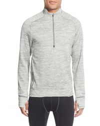 Nike - Gray 'element Sphere' Water Repellent Half Zip Running Top for Men - Lyst