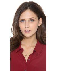 Sarah Chloe - Metallic Eva Engraved Pendant Necklace - S - Lyst