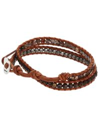 Chan Luu - 13 12 Leopard Japsernatural Brown Bracelet for Men - Lyst