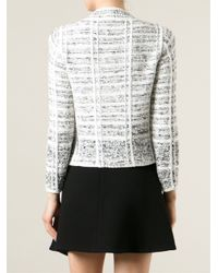 Sonia Rykiel - White Tweed Double Breasted Jacket - Lyst
