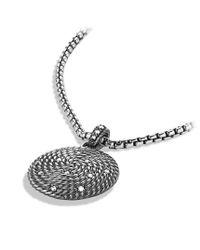 David Yurman - Metallic Cable Coil Small Pendant with Diamonds - Lyst