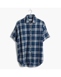 Madewell | Courier Shirt In Blue Plaid | Lyst