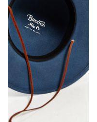 Brixton | Blue Tiller Fedora for Men | Lyst