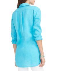 Lauren by Ralph Lauren   Blue Linen Tunic   Lyst
