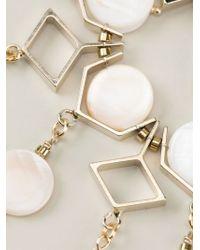 Ermanno Scervino - Metallic Mother Of Pearl Embellished Bracelet - Lyst