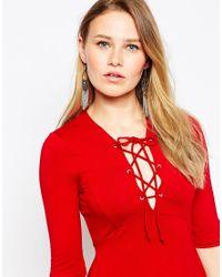 Lipsy | Metallic Chainmail Tassel Earrings | Lyst