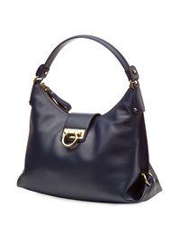 Ferragamo | Fanisa Medium Leather Tote - Blue | Lyst