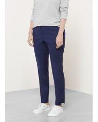 Violeta by Mango - Blue Cotton Suit Trousers - Lyst