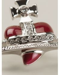 Vivienne Westwood Anglomania - Red Heart Orbit Earrings - Lyst