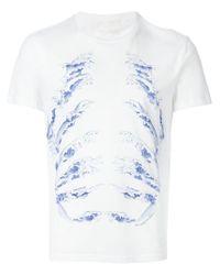 Alexander McQueen | White Wave Motif T-shirt for Men | Lyst