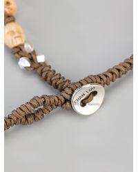 Chan Luu - Brown Skull Beaded Bracelet for Men - Lyst