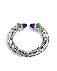 David Yurman - Purple Waverly Bracelet with Amethyst and Tsavorites - Lyst