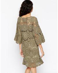 ASOS   Green Hand Crochet Tunic Dress   Lyst
