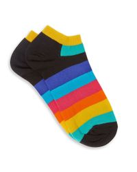 Happy Socks - White Trainer Liners - Multi for Men - Lyst