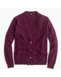 J.Crew | Purple Italian Cashmere Cardigan Sweater | Lyst
