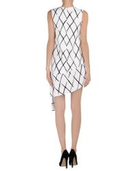 Balenciaga - White Short Dress - Lyst