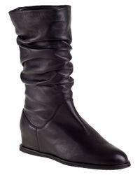 Stuart Weitzman - Harbor Wedge Boot Black Leather - Lyst