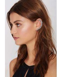 Nasty Gal | Metallic Downward Spiral Cuff Earring | Lyst