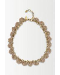 Anthropologie | Metallic St. Erasmus Crochet Glimmer Necklace | Lyst