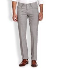Saks Fifth Avenue - Gray Luigi Wool Pants for Men - Lyst