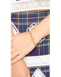 Rebecca Minkoff - Metallic Studded Hinge Cuff Bracelet Gold - Lyst