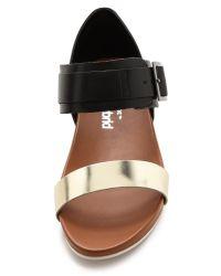 United Nude - Metallic Apollo Low Flat Sandals - Lyst