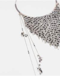 Zara | Metallic Triangular Shaped Necklace | Lyst