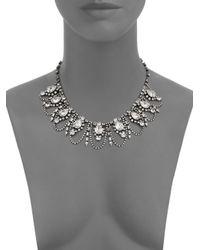 DANNIJO - Metallic Yves Crystal Draped Collar Necklace - Lyst