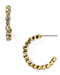 Carolee - Metallic Monaco Moments Hoop Earrings - Lyst