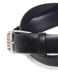 Paul Smith | Black Roller Leather Belt for Men | Lyst