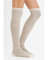 Forever 21 | Natural Marled Knit Over-the-knee Socks | Lyst