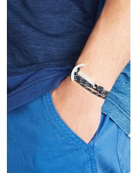 Miansai | Black Anchor Rope Bracelet for Men | Lyst