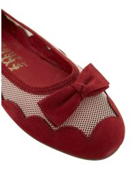 F-Troupe - Red Bow Ballet Flats - Lyst