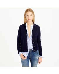 J.Crew - Blue Collection Cashmere V-neck Cardigan Sweater - Lyst