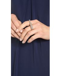 Made Her Think | Metallic Talon Knuckle Buster Rose Goldblack Diamond | Lyst
