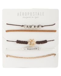 Aéropostale | Natural Flower Happiness Bracelet 5-pack | Lyst