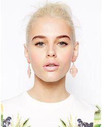 ASOS - Pink Limited Edition Pearlised Chandelier Earrings - Lyst