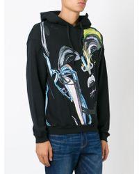 James Long - Black Painterly Portrait Sweatshirt for Men - Lyst