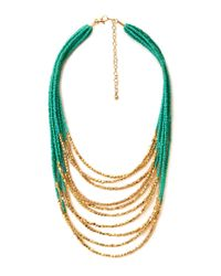 Forever 21 | Green Explorer Layered Beaded Necklace | Lyst