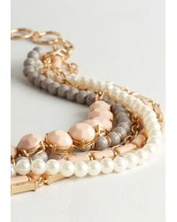 Ana Accessories Inc - Metallic Yes You Glam Necklace In Blush - Lyst