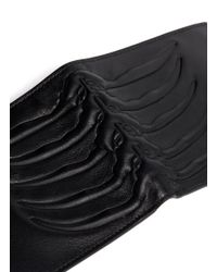 Alexander McQueen - Black Ribcage Embossed Leather Bi-fold Wallet for Men - Lyst