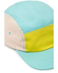 Forever 21 Blue Colorblocked Five-Panel Hat for men