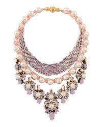 Shourouk - Purple Necklace - Lyst
