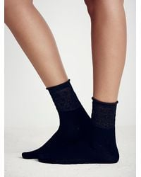 Free People | Black After Party Ankle Sock | Lyst