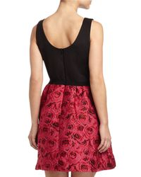 Taylor/siouni & Zar Corp. - Black Sleeveless A-line Jacquard Dress - Lyst