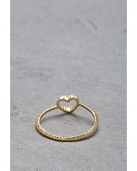 Forever 21 - Metallic Flash Trash Girl Heart Midi Ring - Lyst