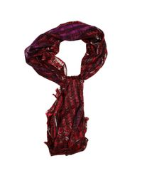 Etro | Red Foulard Dheli 68x168 Silk Blend Cachemire With Lurex | Lyst